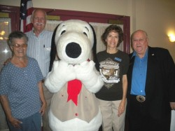 Pam, Steve Knott, Snoopy, Christiane & Irv  at book signing- 11-09